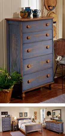 31-MD-00010 - Country Fresh Five Drawer Chest Woodworking Plan.
