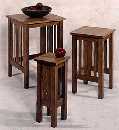 Mission Nesting Tables Woodworking Plan.