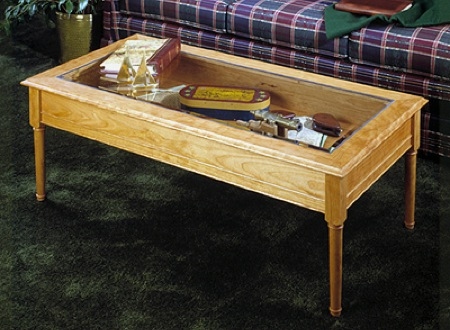 Glass Topped Coffee Table Woodworking Plan