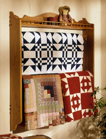 Wall Mounted Quilt Rack Woodworking Plan.