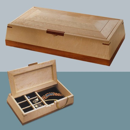 Jewelry Box Woodworking Plan.
