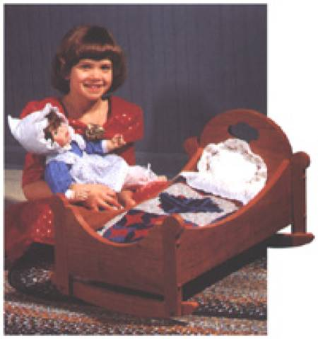 Sweet Dreams Doll Cradle Woodworking Plan.