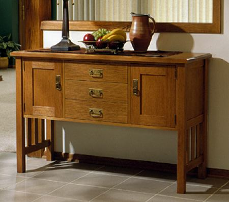 31-MD-00043 - Arts and Crafts Buffet Woodworking Plan.