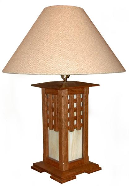 31 md 00045 arts and crafts lamp woodworking plan for Crafting wooden lamps