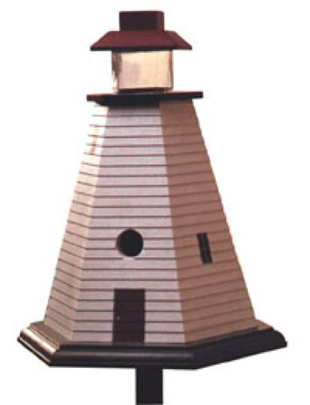 Lighthouse Birdhouse Woodworking Plan.