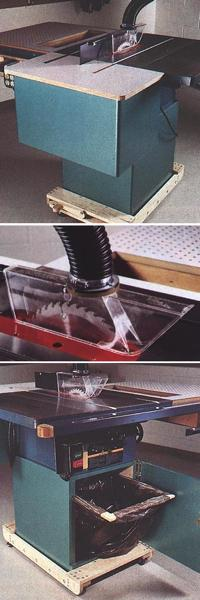 3 in 1 Tablesaw Upgrade and Saw Top Dust Collector Woodworking Plan Set.
