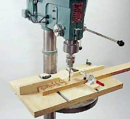 Drill Press Table Woodworking Plan.
