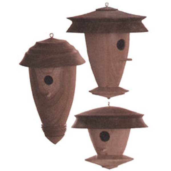 Decorative Turned Birdhouses Woodworking Plan
