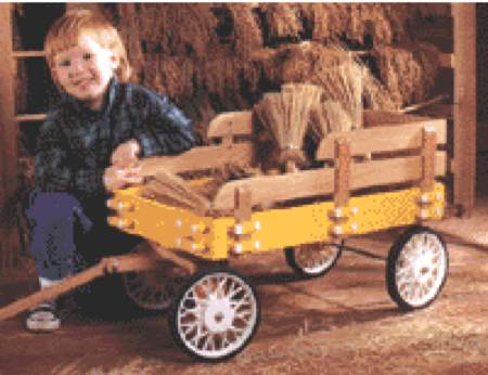 Stake Wagon Woodworking Plan.