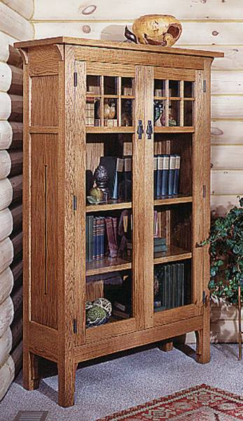 Arts and Crafts Bookcase Woodworking Plan.