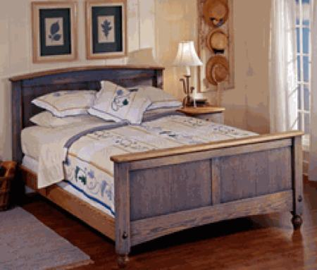 Country Fresh Bed Woodworking Plan.