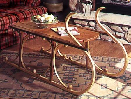 31-MD-00105 - Yuletide Sleigh Coffee Table Woodworking Plan