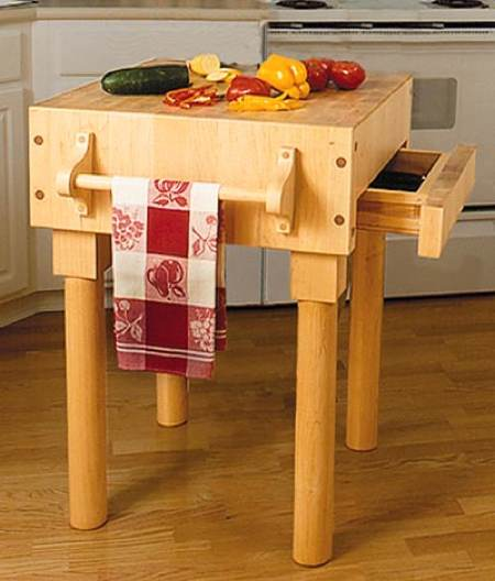Kitchen Work Center Woodworking Plan.