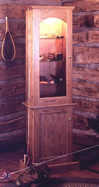 Anglers Showcase Cabinet Woodworking Plan