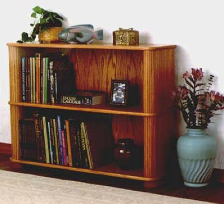 Tambour Bookcase Woodworking Plan