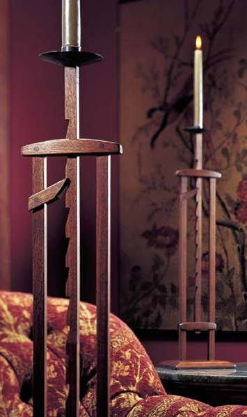 Ratcheting Candlestand Woodworking Plan.