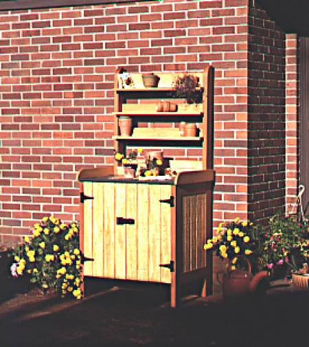 Gardeners Potting Bench Woodworking Plan
