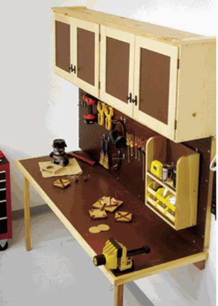 Space saving work center woodworking plan