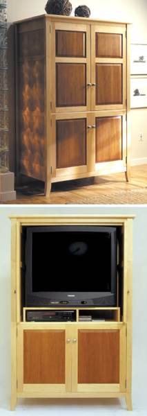 Armoire entertainment center woodworking plan woodworkersworkshop Design plans for entertainment center