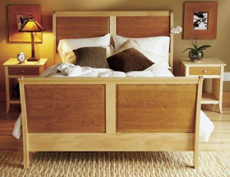 31-MD-00174 - Sleigh Bed Woodworking Plan.