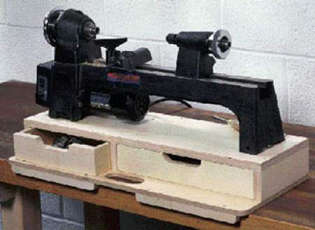 31-MD-00180 - Portable Mini Lathe Base Woodworking Plan