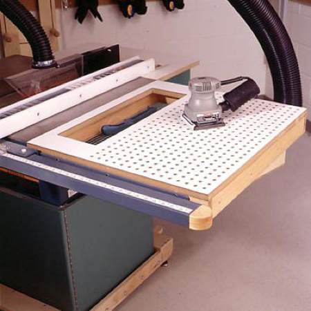 Tablesaw Sanding Table Woodworking Plan