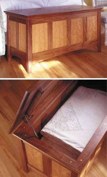 31-MD-00190 - Heirloom Hope Chest Woodworking Plan.