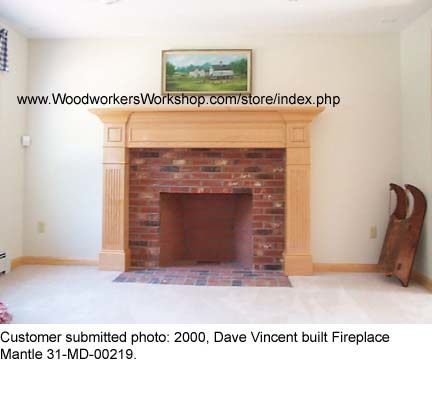 Fabulous Fireplace Surround Woodworking Plan.