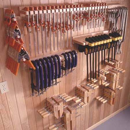 31-MD-00230 - Five Great Clamp Organizers Woodworking Plan