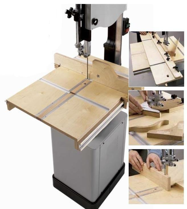 Bandsaw Table System Plus 3 Jigs Woodworking Plan