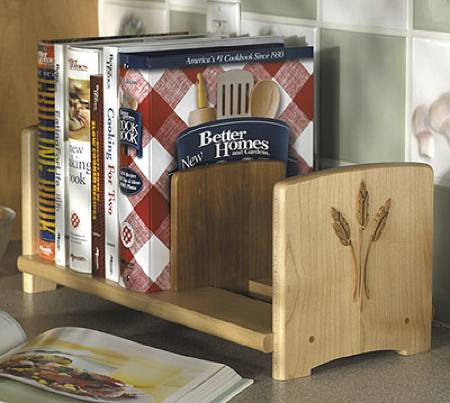 Chefs Cookbook Bookshelf Woodworking