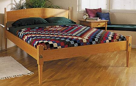 Shaker Bed Woodworking Plan.