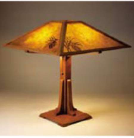 Arts and Crafts Table Lamp Woodworking Plan.
