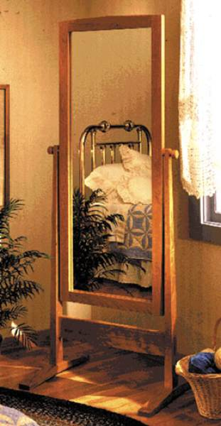 Shaker Cheval Mirror Woodworking Plan.