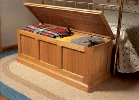 Cedar Lined Oak Chest Woodworking Plan.