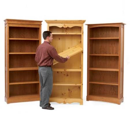 Trio of Bookcases Woodworking Plan.