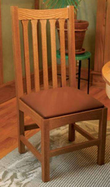 31-MD-00309 - Traditional Oak Dining Chair Woodworking Plan.