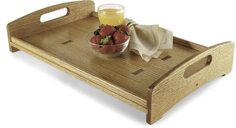 Serving Tray with Routed Inlay Woodworking Plan