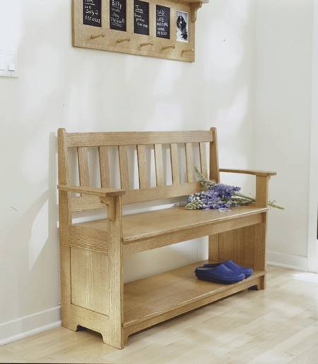 Sit a Spell Hall Bench Woodworking Plan.