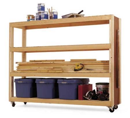 Mobile Storage Rack Woodworking Plan Woodworkersworkshop
