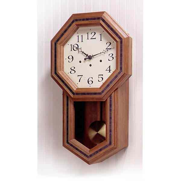 Schoolhouse Pendulum Clock Downloadable Woodworking Plan