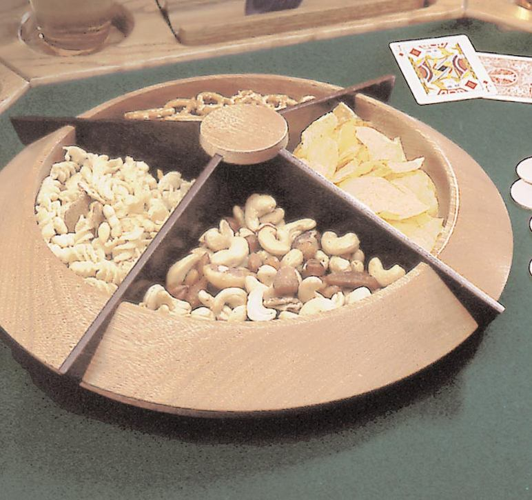 Turned Lazy Susan Snack Tray Woodworking Plan