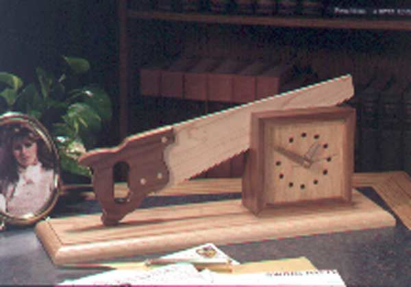 Cutting Time in Half Clock Woodworking Plan