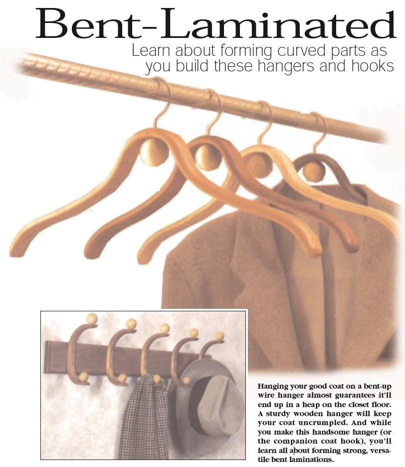 Bent Laminated Hangers and Coat Rack Woodworking Plan