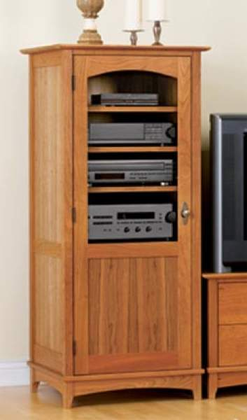 Entertainment Center Tower Cabinet Woodworking Plan.