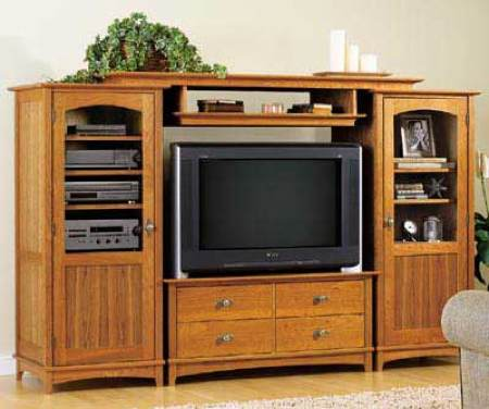 31-MD-00409 - Entertainment Center Tower Cabinet Woodworking Plan.