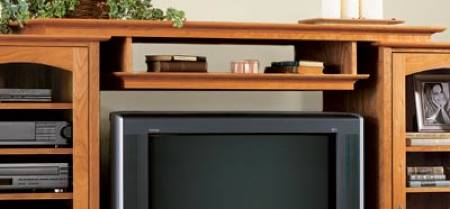 31-MD-00412 - Entertainment Center Bridge and Shelf Woodworking Plan