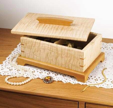 Secret Compartment Jewelry Box Woodworking Plan.