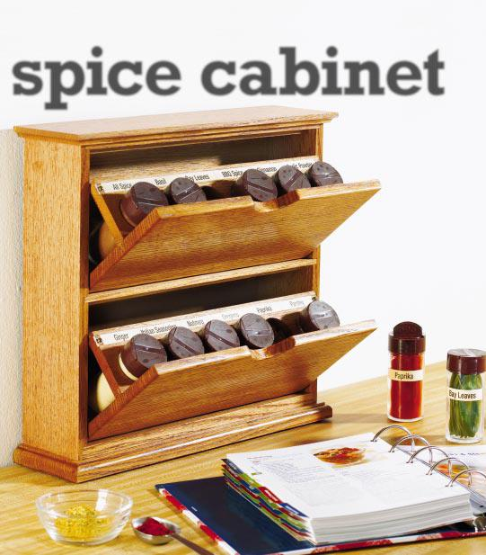 Tilting Bin Spice Cabinet Woodworking Plan