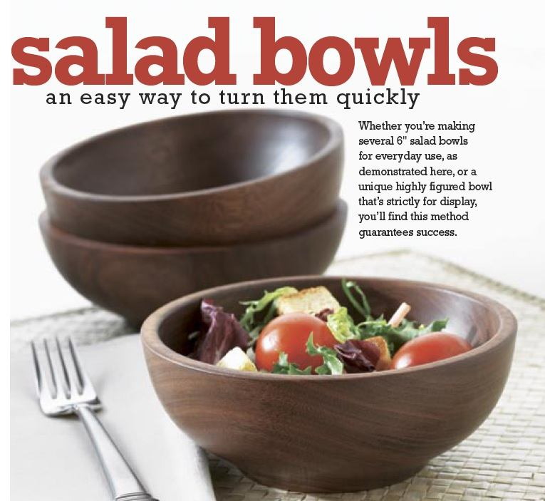 Salad Bowls Woodworking Plan